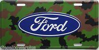 Ford Camo Built Tough Truck Tag Emblem License Plate Hunter Unlimited Ducks Deer