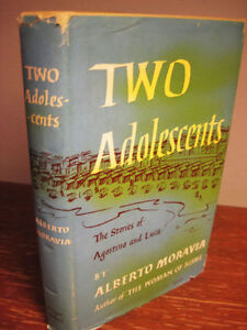 1st-Edition-TWO-ADOLESCENTS-Alberto-Moravia-NOVEL-First-Printing-FICTION