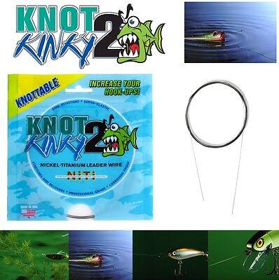 KNOT 2 KINKY ADVANCED STRECTH NIKEL TITANIUM LEADER WIRE  15ft/4.6m