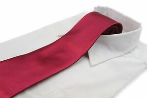 CHEAP-10CM-MENS-MAROON-TIE-Necktie-Neck-Skinny-Ties-Wedding-Formal-Red-SALE