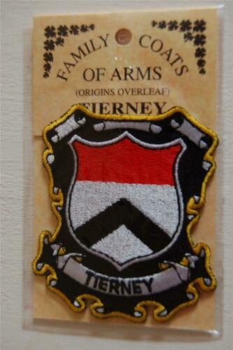 Badge Crest TIERNEY Family PATCH Heraldic Coat of Arms Embroidered