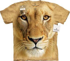 Big Face Lionne Big Cats T Shirt Adulte Unisexe The Mountain-afficher Le Titre D'origine Une Gamme ComplèTe De SpéCifications
