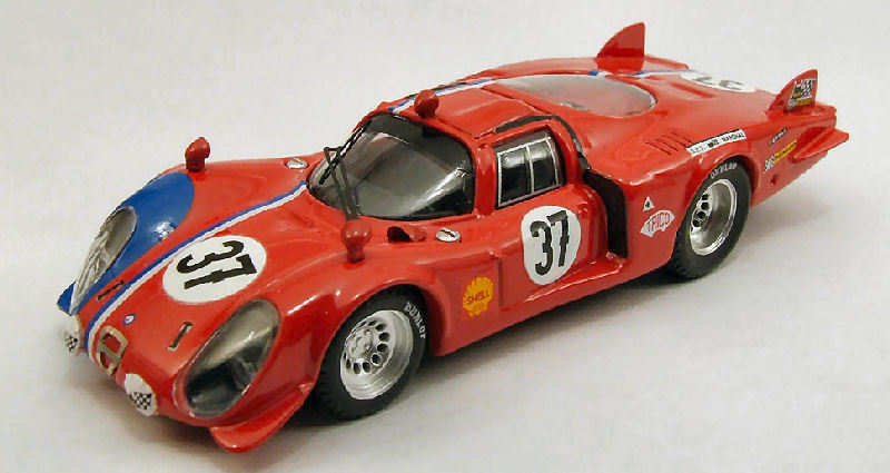 Alfa Romeo 33.2 C C C  37 35th Lm 1968 Pilette   Slotemaker 1 43 Model BEST MODELS 54d592