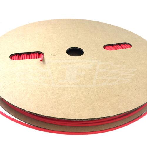 60 metri rotolo di 6.4mm Rosso Calore Shrink Tubo Manicotto 2:1 rapporto Heatshrink