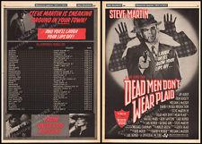 DEAD MEN DON'T WEAR PLAID__Original 1982 Trade Print AD / poster__STEVE MARTIN