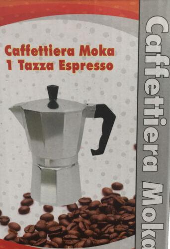 CONTINENTAL Italian Style STOVE Top Caffettiera Espresso Maker 1 TAZZA UK Venditore