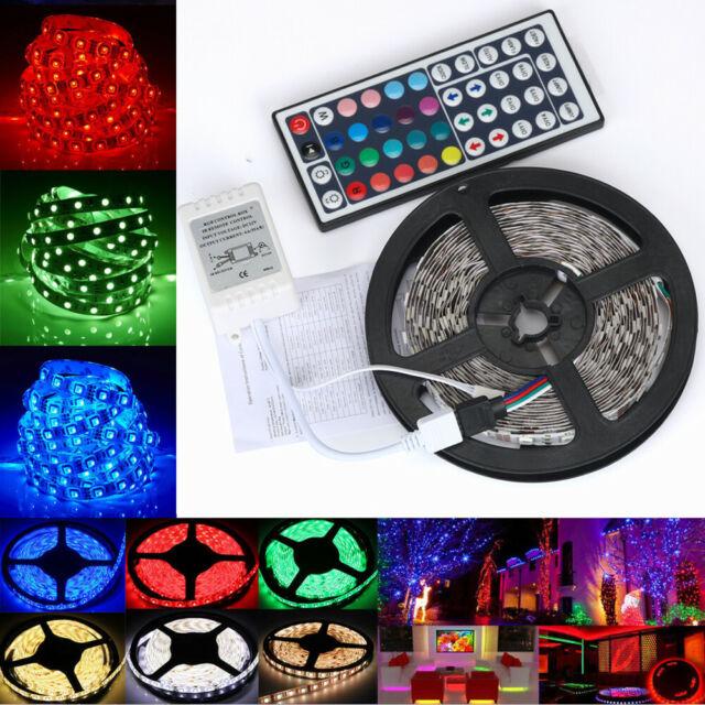 10M RGB Waterproof LED Strip Light 5050 SMD 300 LEDs 44 Key Remote 12V Full Kit