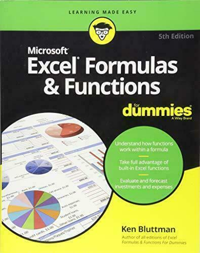 Excel Formulas Functions For Dummies 5th Edition 2018 Pdf For Sale Online Ebay
