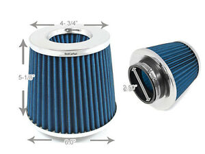2-5-cm-63-mm-Cold-Air-Intake-Cono-Filtro-2-5-034-Nuovo