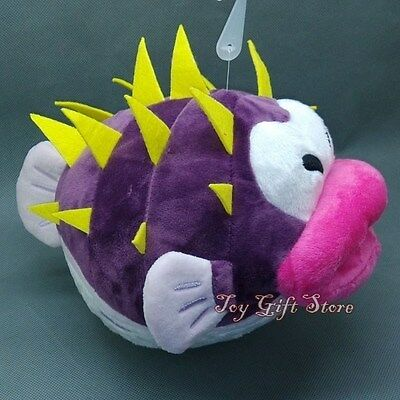"New Super Mario Bros:Pufferfish Porcupuffer Plush Doll Figure Toy 6"" SANE"