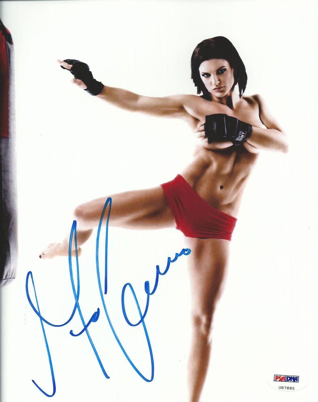 Gina Carano Firmado UFC 8x10 Foto PSA DNA COA Autógrafo Espn Deportes Topless