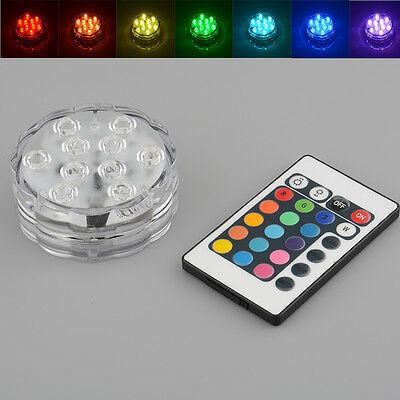 10 LED Multi Color RGB Unterwasser Praktische Partei Erstaunliche helle Remote