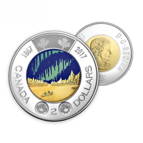 Canada 150 $2 Coin *BEAUTIFUL* *SHIPS IMMEDIATELY* 2017 Glow in the Dark Toonie