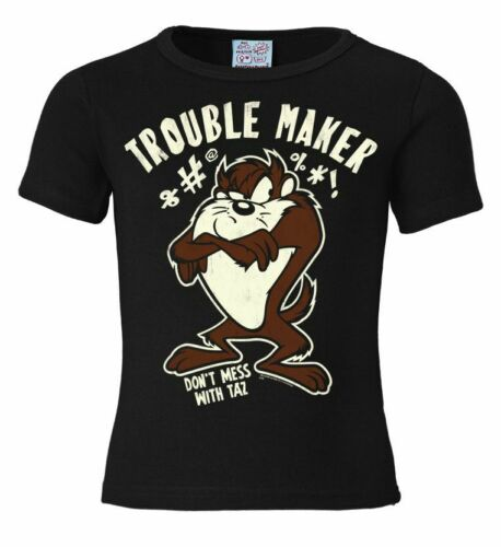 LOGOSHIRT Cartoon Looney Tunes Devil Taz Trouble Maker Childrens Kids T-Shirt