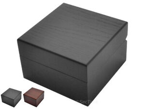 New Classic Wooden Watch Box Case for 1 Wristwatch Velour Cushion