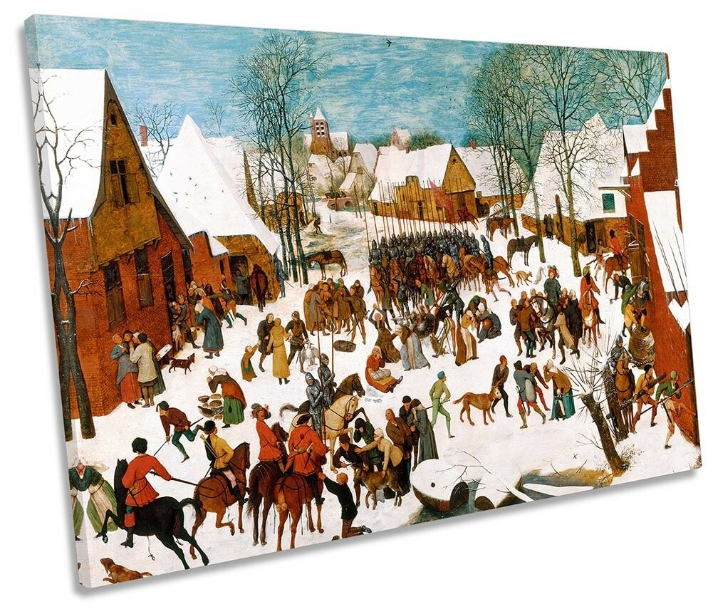 Pieter Bruegel Massacre of the Innocents Picture SINGLE CANVAS WALL ART Print