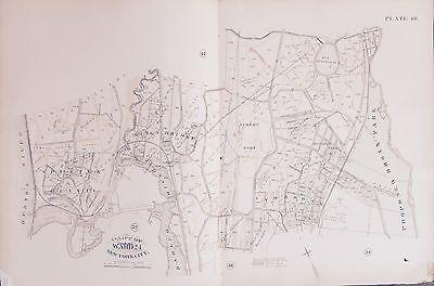 FORDHAM SPUYTEN DUYVIL BRONX ZOO JEROME RACETRACK NY ATLAS MAP 1885 KINGSBRIDGE
