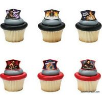 Wwe Wrestling Show Cupcake Cake Topper 12 18 24 Favors Decoration Birthday Wwe
