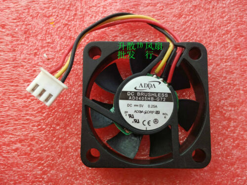 1PC ADDA 4010 AD0405HB-G72 DC5V 0.25A 4CM Double Ball 3-Wire Cooling Fan