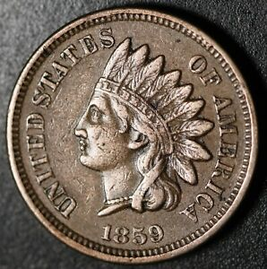 1859-INDIAN-HEAD-CENT-With-LIBERTY-amp-DIAMONDS-XF-EF