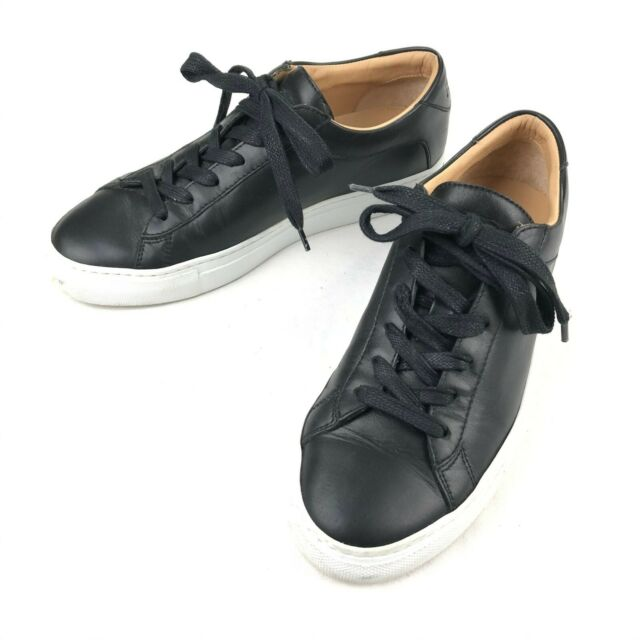 KOIO Men's Capri Leather Sneakers Black Onyx Low Top Shoes •Size 36 EU | 7 US