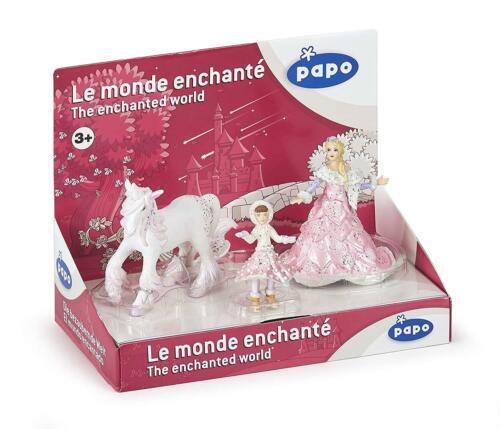 unicorno e BAMBINO FIGURE Papo 80507 Set Regalo Il mondo della magia Ice Queen