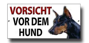 Attention au Chien Aluminium DOG sign et autocollant français Méfiez-vous de Chien