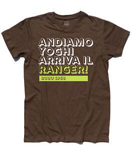 T-shirt uomo YOGHI e BUBU Andiamo Yoghi arriva il ranger Yellostone Park