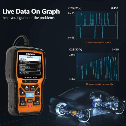 FOXWELL NT301 Car Obd2 Code Scanner Universal Check Engine Light Di Code Reader