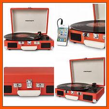 Vinyl Record Player Turntable Portable Vintage Crosley Built In Stereo Speakers