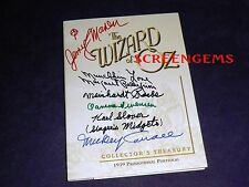 The Wizard of Oz signed 6 Munchkins 1939 Promo Portfolio from DVD 60th anniv box