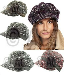 Womens Formal Vintage Newsboy Cap Hat Baker Boy Hats Gatsby Flower ... d5acb40edd9