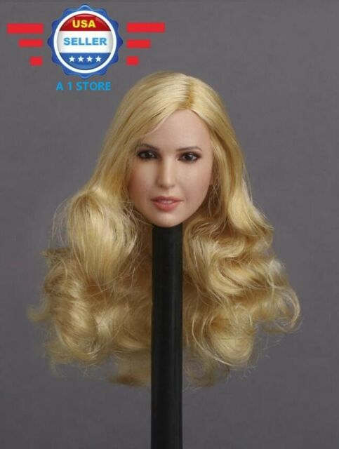 1//6 scale Blonde hair female head CT012 C for Phicen Hot toys Pop toys ❶USA❶