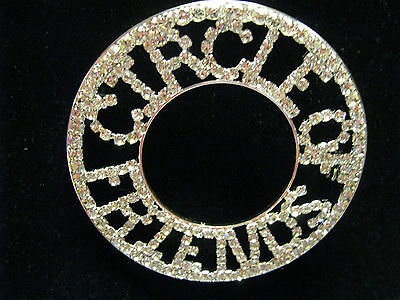 Perfect Gift Pins & Brooches Fashion Jewelry Circle Of Friends Rhinestone Word Pin