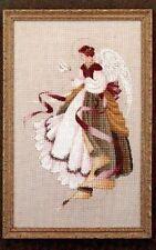 Angel of Grace Cross Stitch Chart Pattern Lavender and Lace