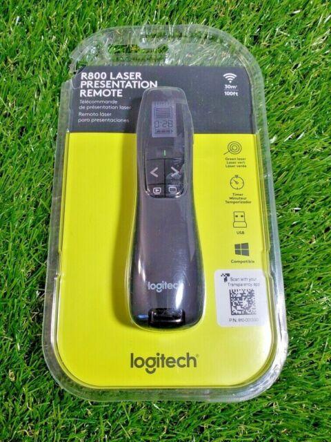 **NEW**  Logitech Wireless Presenter R800 With Laser Pointer Green