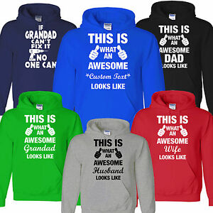 Details About Awesome Dad Wife Grandad Cant Fix It Fathers Day Daddys Birthday Gift Hoody
