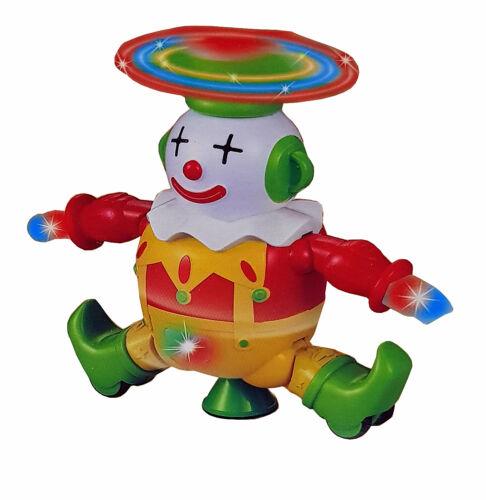 Kinderspielzeug Spielzeug Dancing Tanzender Funny Clown Harlekin LED Licht Sound