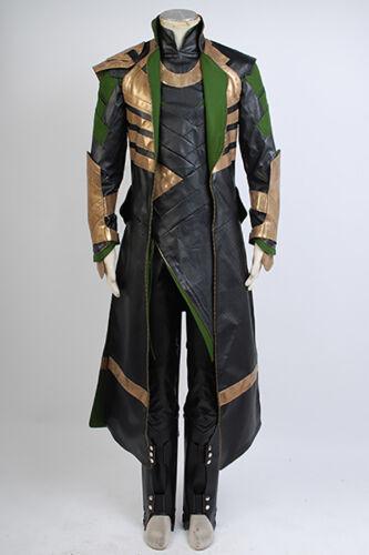 Loki Halloween Costume Thor 2:Dark World Avengers Cosplay Adult Suit Hot