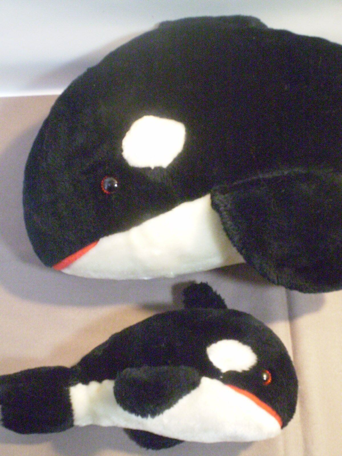 Sea World Killer Whale Orca 1982 & & & 1987 Baby Marine Ocean Plush b9e80f