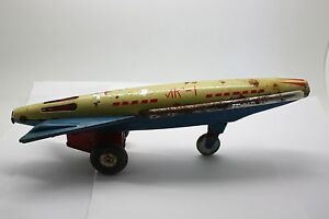 First-Soviet-Ussr-Russian-Space-Tin-Metal-Toy-ROCKET-LK-1-VERY-RARE