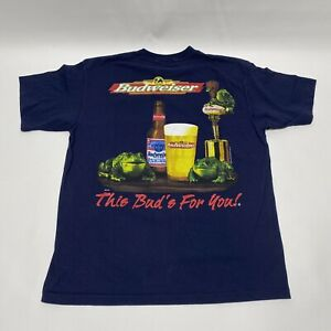 Vintage-90s-BUDWEISER-King-of-Beers-This-BUD-039-S-FOR-YOU-Frogs-T-Shirt-Mens-XL-USA