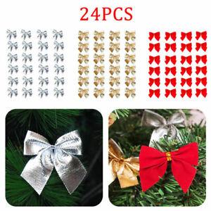 24x-Grosse-Schleifen-Bowknot-Weihnachtsbaum-Fuer-Weihnachtsbaum-Party-Home-Dekor