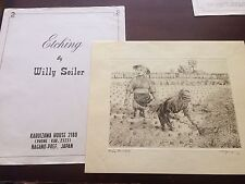 """Original Willy Seiler Etching """"Rice Harvest"""" - From Occupied Japan"""