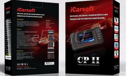 BEST OBD2 iCarsoft CP II PEUGEOT CITROEN Diagnostic Scanner Tool SRS ABS ENGINE