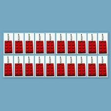 20 Lot Lego 3020 Red brick plate Zipper Pull Charm Book Bag School Bag Backpack
