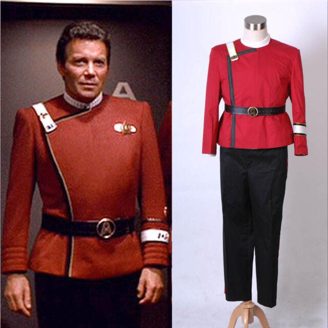 Star Trek II-VI Wrath of Khan starfleet Costume Uniform *Tailored*Free shipping