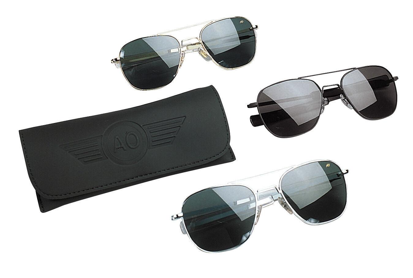 712362b495 AO American Optical Military Aviator Silver Frames 57 Mm Sunglasses ...