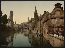 Canal And Belfry Bruges A4 Photo Print