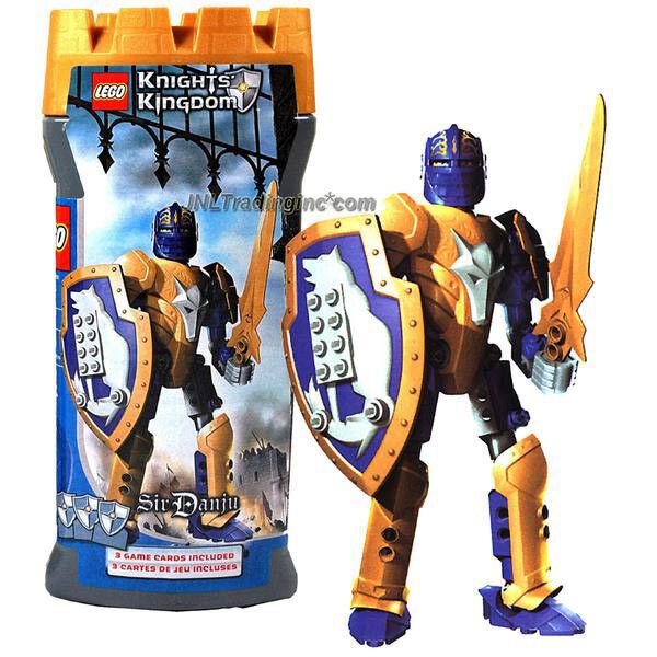 NEW 2005 LEGO Knights Kingdom 7.5  Figure 8791 Knight of the Wolf SIR DANJU